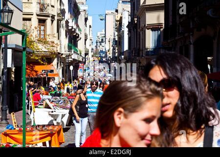Argentina Buenos Aires market day in San Telmo area - Stock Photo
