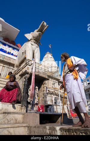 India Rajasthan state Udaipur the Jagdish Temple is a hindu temple dedicated to lord Vishnu - Stock Photo