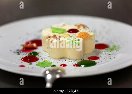 Spain recipe Emmanuel Renaut onboard the Austral cruise yacht Compagnie du Ponant former second of Marc Veyrat Auberge - Stock Photo