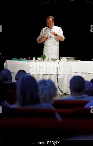 Spain Emmanuel Renaut former second of Marc Veyrat Auberge de l'Eridan restaurant he earned three Michelin stars - Stock Photo