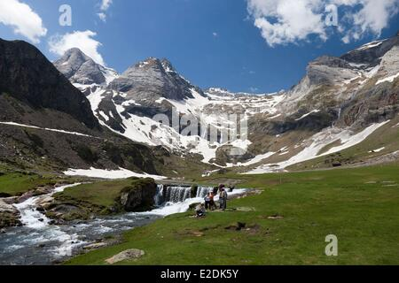 France, Hautes Pyrenees, Pyrenees National Park, Cirque of Troumouse - Stock Photo