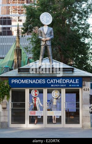 Canada Quebec province Montreal downtown the underground mall Les promenades de la Cathedrale - Stock Photo