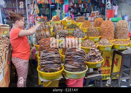 Vietnam An Giang Province Mekong Delta region Chau Doc the market - Stock Photo