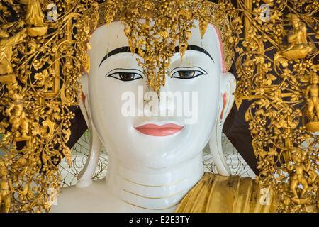 Myanmar (Burma) Yangon division Yangon district of Kandawgyi Shwedagon Pagoda Buddha - Stock Photo