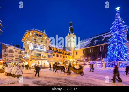 France haute savoie megeve the city center and the for Constructeur maison individuelle haute savoie