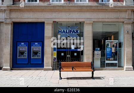 Halifax Bank Davygate York North Yorkshire England United Kingdom UK GB Great Britain - Stock Photo