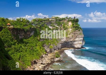 Indonesia, Bali, Bukit peninsula, Pura Luhur Uluwatu temple - Stock Photo