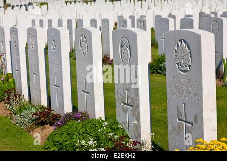 France, Pas de Calais, Souchez, Cabaret Rouge british cemetery - Stock Photo