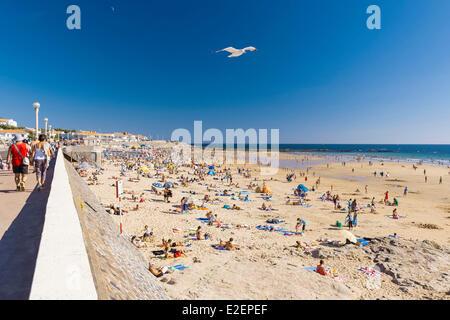 France, Vendee, Les Sables d'Olonne, the beach - Stock Photo