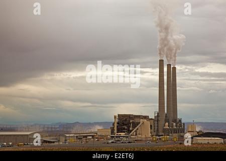 Page, Arizona - The coal-fired Navajo Generating Station. - Stock Photo