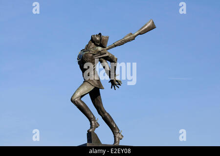 United States New Jersey Jersey City Exchange Place Katyn Memorial dedicated to the victims of the Katyn massacre in 1940