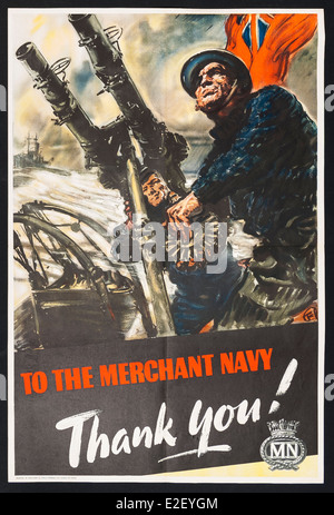 British Second World War propaganda poster - Stock Photo