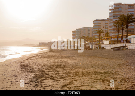 Playa Ferrara, Torrox, Costa del Sol, Malaga province, Andalusia, Spain, Europe. - Stock Photo