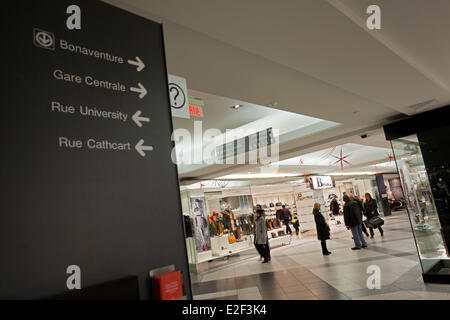 Canada, Quebec province, Montreal, the Underground City, the mall in the Place Ville-Marie - Stock Photo