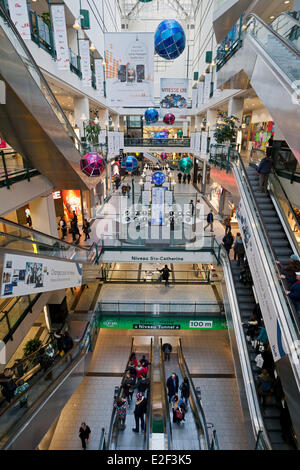 Canada, Quebec province, Montreal, the Underground City, the Eaton shopping Centre - Stock Photo