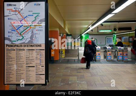 Canada, Quebec province, Montreal, the Underground City, McGill metro station - Stock Photo