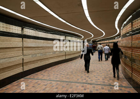 Canada, Quebec province, Montreal, the Underground City, pedestrian tunnel - Stock Photo