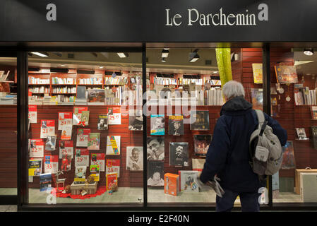 Canada, Quebec province, Montreal, the Underground City, Le Parchemln library, Berri-UQAM subway station - Stock Photo