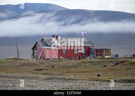 Russia, Chukotka autonomous district, Wrangel island, Doubtful village - Stock Photo
