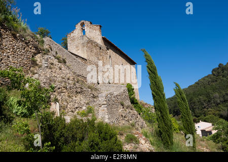 France, Alpes de Haute Provence, Les Mees, medieval chapel - Stock Photo