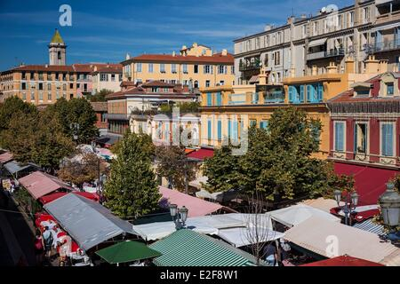 France, Alpes Maritimes, Nice, old town, Cours Saleya - Stock Photo