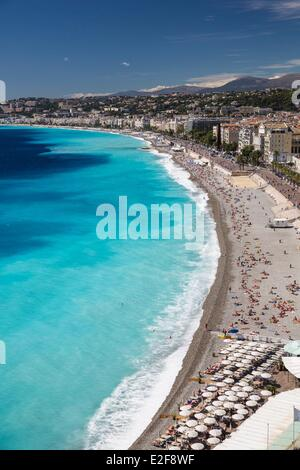 France, Alpes Maritimes, Nice, Promenade des Anglais - Stock Photo