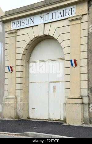 France, Rhone, Lyon, Montluc Prison Memorial, the military prison main gate - Stock Photo