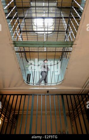 France, Rhone, Lyon, Montluc Prison Memorial, the first floor gallery - Stock Photo