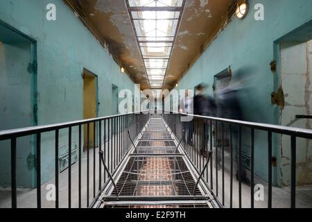 France, Rhone, Lyon, Montluc Prison Memorial, cells from the first floor gallery - Stock Photo