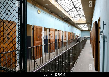 France, Rhone, Lyon, Montluc Prison Memorial, cells from the 2nd floor gallery where Jean Moulin was locked - Stock Photo