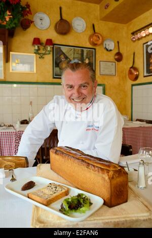 france rhone lyon restaurant daniel et denise 156 rue de crequi stock photo royalty free. Black Bedroom Furniture Sets. Home Design Ideas