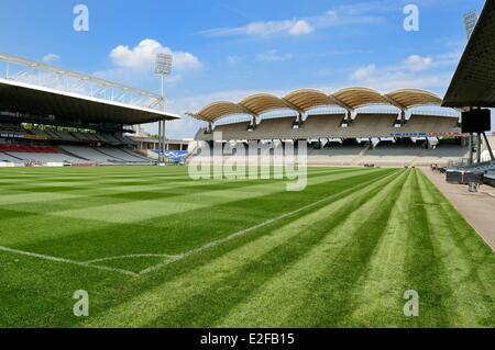 France, Rhone, Lyon, the Gerland stadium from the architect Tony Garnier - Stock Photo