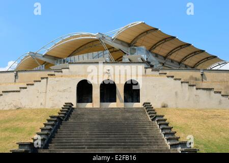 France, Rhone, Lyon, the Gerland stadium from the architect Tony Garnier - Stock Photo