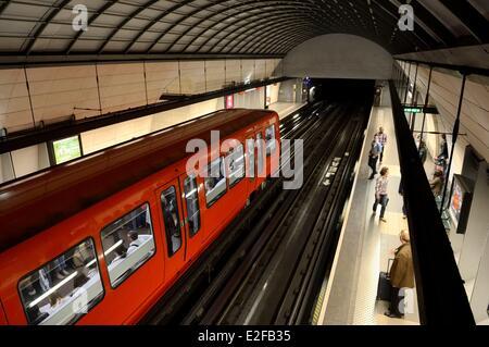 France, Rhone, Lyon, cathedrale Saint Jean underground station - Stock Photo