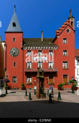 France, Bas Rhin, Haguenau, the Alsatian museum, old Chancellery - Stock Photo