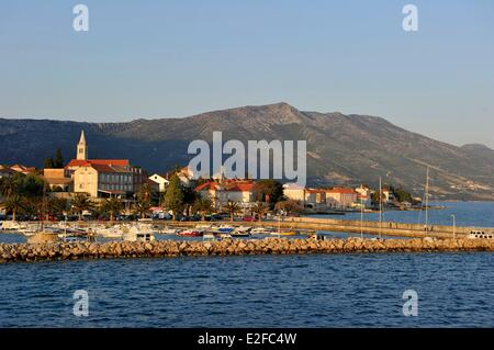 Croatia, Dalmatia, Dalmatian coast, Peljesac peninsula, Orebic - Stock Photo