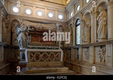Croatia Dalmatia Dalmatian coast Trogir historical center listed as World Heritage by UNESCO the cathedral Saint - Stock Photo