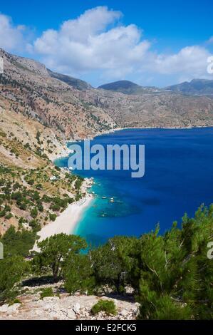 Greece, Dodecanese, Karpathos Island, Apella beach - Stock Photo