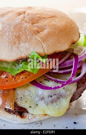 United Kingdom, London, Islington, Upper Street, Byron restaurant burger - Stock Photo