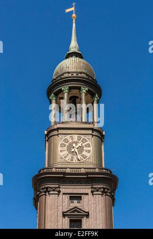 Germany Hamburg Protestant Church of St Michael rebuilt in the 20th century on a Baroque style dating back to 1786 - Stock Photo