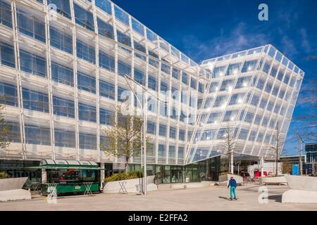 Germany Hamburg HafenCity Unilever Haus (2009) by the Anglo-Dutch multinational and produced by the architectural - Stock Photo