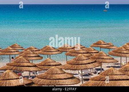 Cyprus, Famagusta district, Ayia Napa, Nissi Beach, view from the Nissi Beach Hotel - Stock Photo