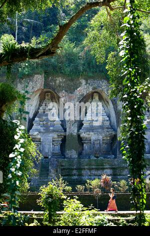 Indonesia, Bali, near Ubud, Tampaksiring, Gunung Kawi Temple - Stock Photo