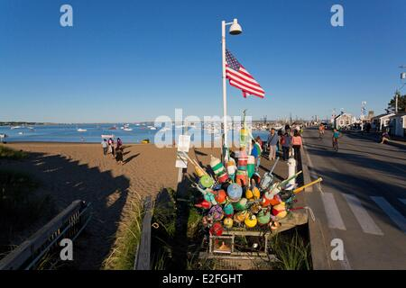United States, Massachusetts, Cape Cod, Provincetown, the beach and the Pier - Stock Photo