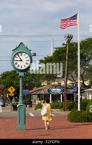 ... United States, Massachusetts, Cape Cod, Hyannis, Hyannisport, Main  Street And Its