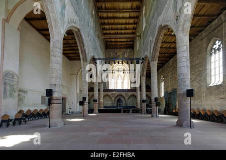 France, Haut Rhin, Guebwiller, Les Dominicains de Haute Alsace (Dominicans of the Upper Alsace Region), the church - Stock Photo