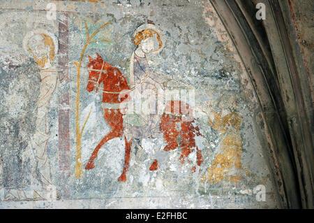 France Haut Rhin Guebwiller Les Dominicains de Haute Alsace (Dominicans of the Upper Alsace Region) the church mural - Stock Photo