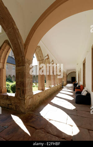 France, Haut Rhin, Guebwiller, Les Dominicains de Haute Alsace (Dominicans of the Upper Alsace Region), the cloister - Stock Photo