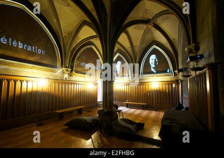 France, Haut Rhin, Guebwiller, Les Dominicains de Haute Alsace (Dominicans of the Upper Alsace Region), the Sacristy - Stock Photo
