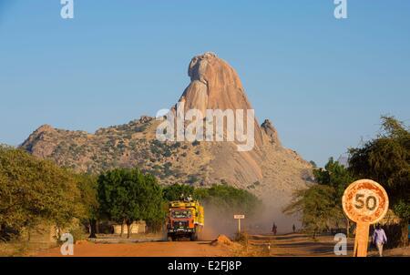 Chad, Sahel, Mataya, granite spires of Abtouyour - Stock Photo